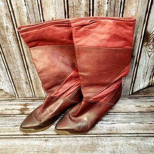 Zodiac 1970s Vintage Red Western Style Boot